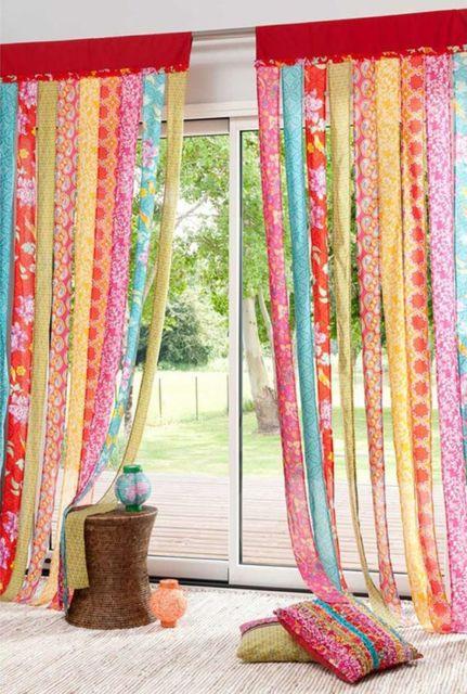 cortinas para sala floral