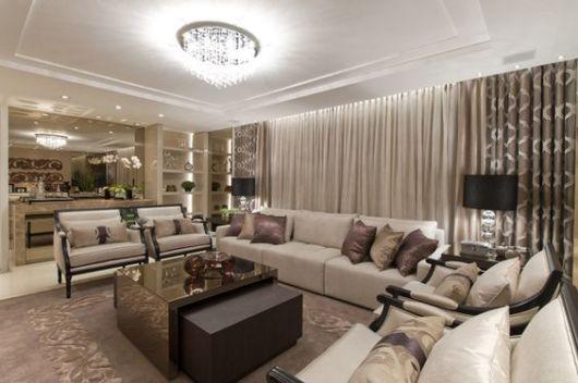 Cortinas para sala como escolher o modelo ideal 60 fotos for Cortinas de sala modernas 2016