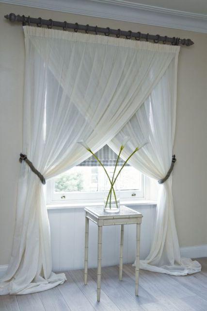 cortinas para sala pequena diferente