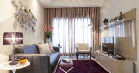 cortinas para sala pequena nude