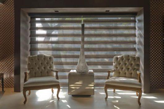 cortinas para sala persianas cinza