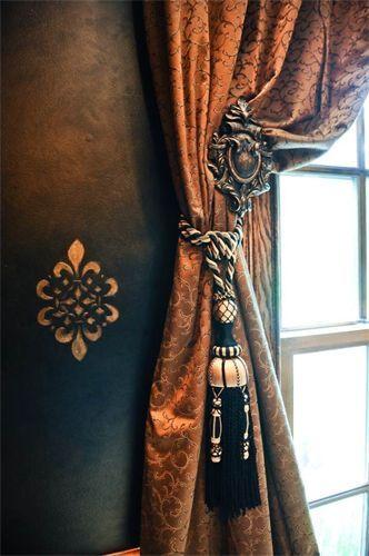 cortinas para sala tassel