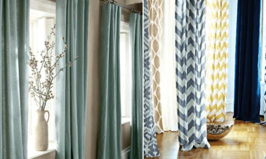 Cortinas para sala como escolher o modelo ideal 60 fotos for Tipos de ganchos para cortinas