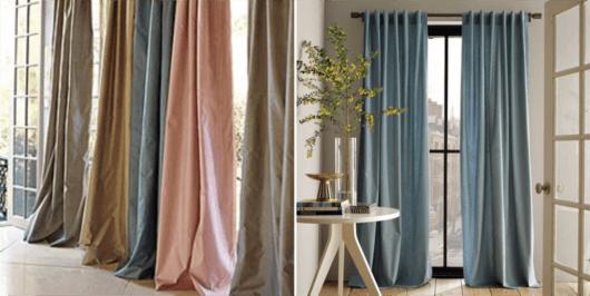 cortinas para sala tecido shantung
