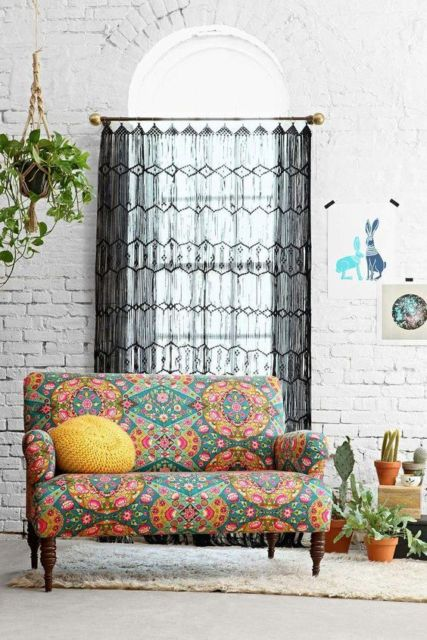 cortinas para sala tecidos crochê