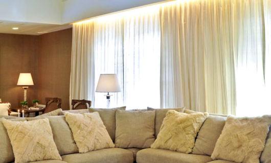 cortinas para sala tecidos seda