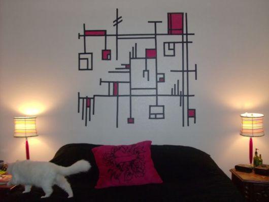 decoração com fita isolante como decorar