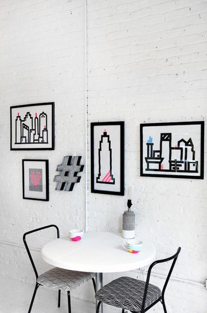decoração com fita isolante moderna