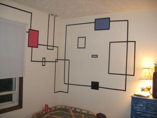 decoração com fita isolante parede como fazer