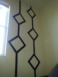 decoração com fita isolante simples