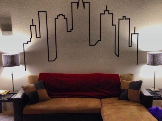 decoração com fita isolante urbana