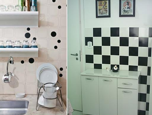 decoração com papel contact banheiro