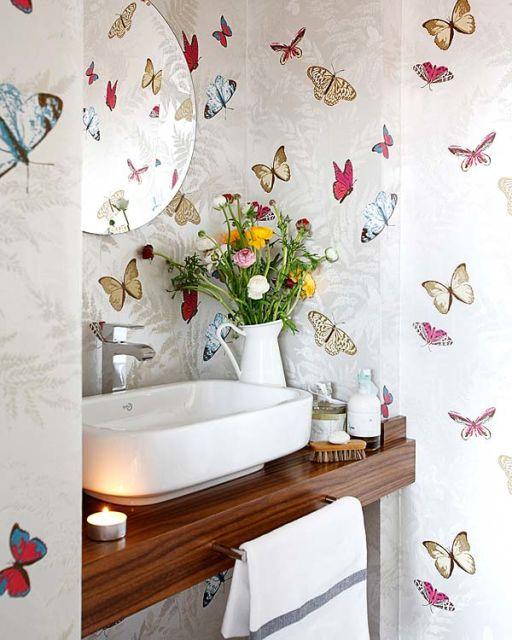 decoração com papel contact ideias banheiro