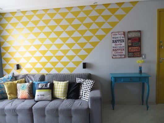 decoração com papel contact na sala