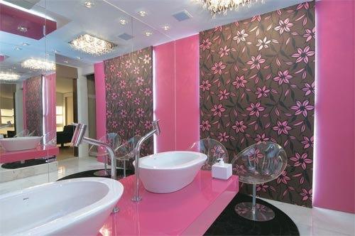 decoração com papel contact no banheiro ideias
