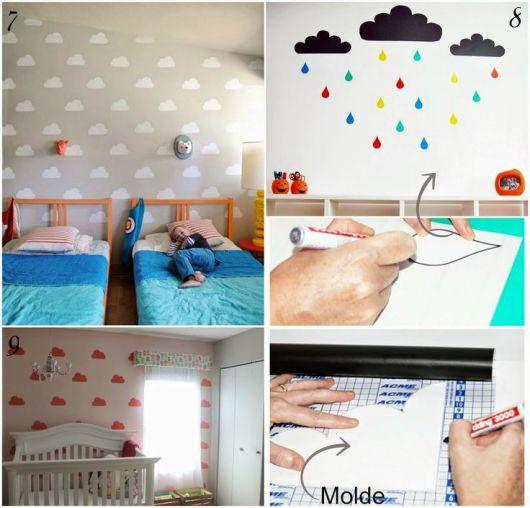 decoração com papel contact no quarto