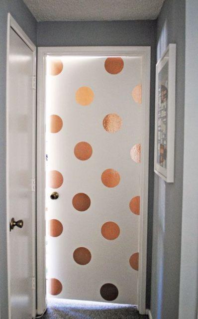decoração com papel contact porta como fazer