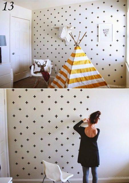decoração com papel contact quarto