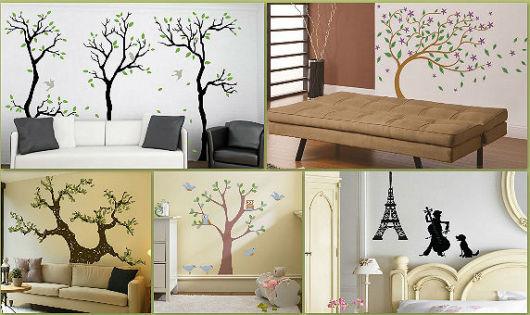 decoração com papel contact salas