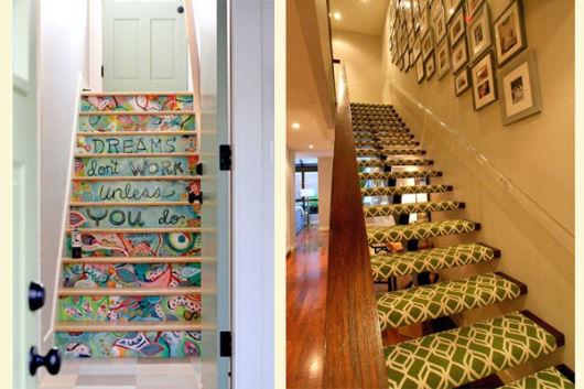 decoração de escada criativas