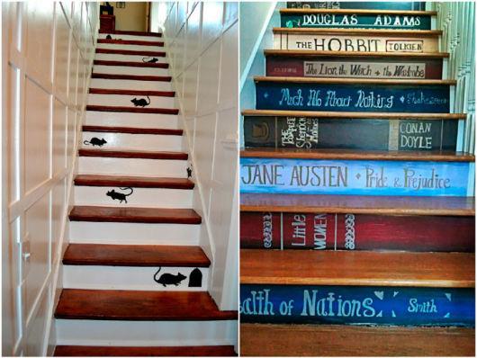 decoração de escada divertidos