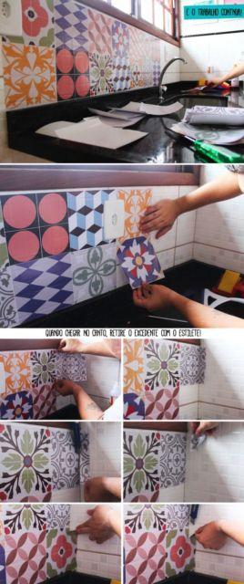decoração faça você mesmo azulejos