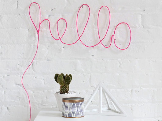 decoração faça você mesmo hello