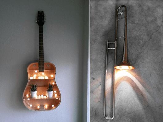 decoração faça você mesmo instrumentos sala