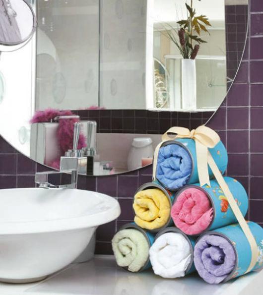 decoração faça você mesmo latas pra toalhas bonitas