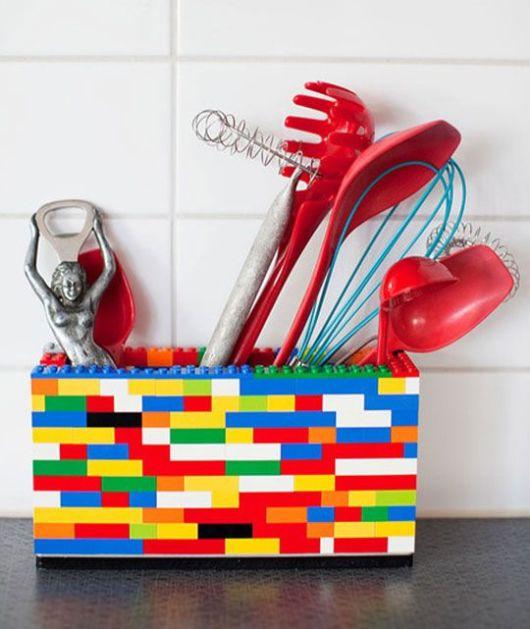 decoração faça você mesmo lego na cozinha