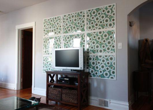 decoração faça você mesmo painel com papel