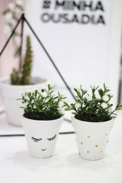 decoração faça você mesmo plantinhas