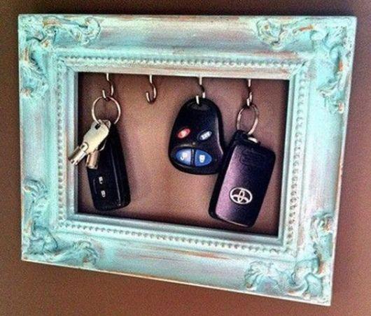 decoração faça você mesmo porta chaves