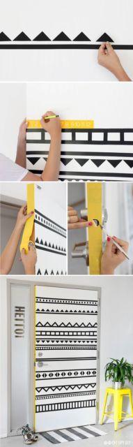 decoração faça você mesmo porta da sala