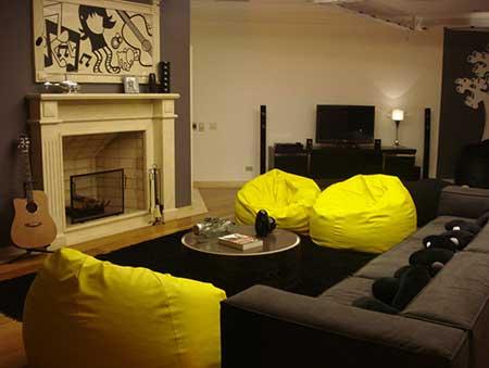 decoração sofa preto como é