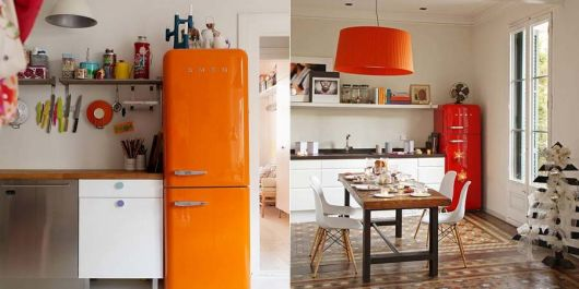 decoracao-geladeira-colorida laranja