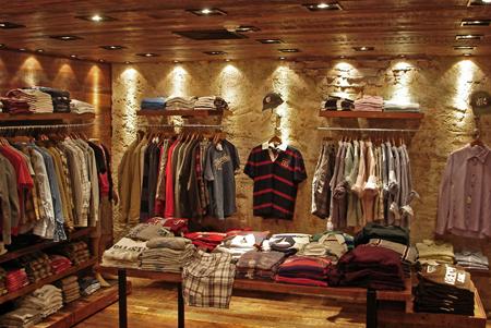 loja masculina rústica