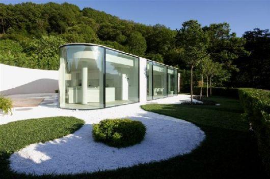 design casa minimalista no campo