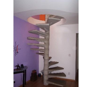 escada concreto espiral