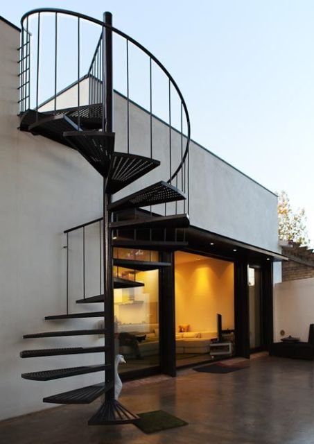 escada lado de fora