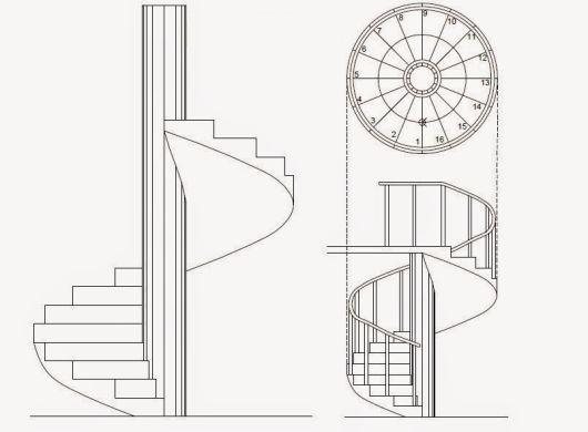 Escada Caracol Espiral Medidas Projetos E Modelos