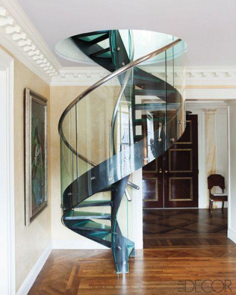 escada inox espiral