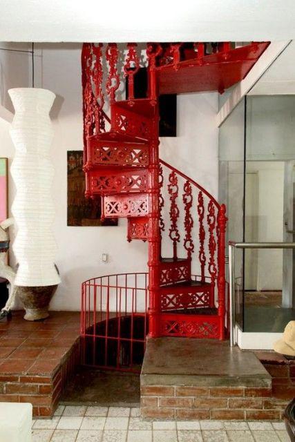 escada de ferro fundido