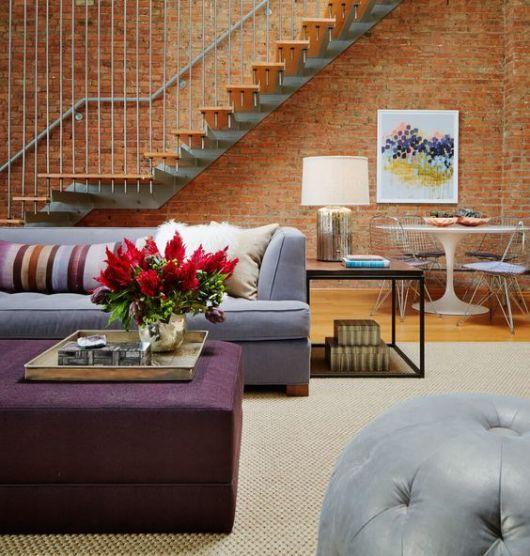 decoração sala de estar integrada com sala de jantar