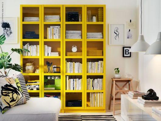 Móvel amarelo decoração