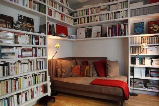 Decoração sala de leitura