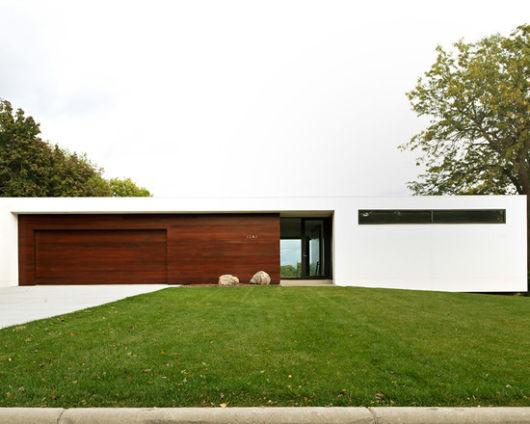 fachada casa terrea minimalista