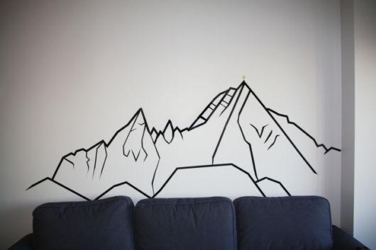 fita isolante montanhas