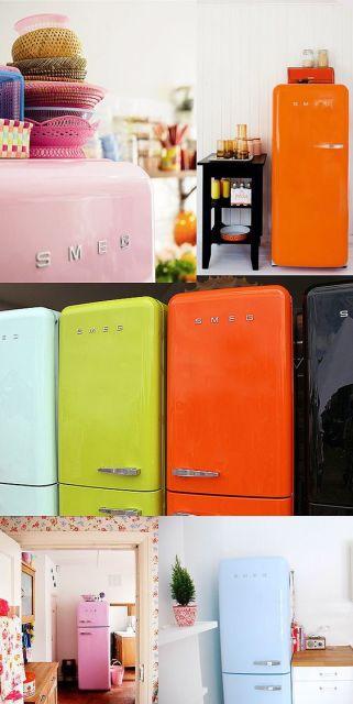 geladeira colorida ambientes