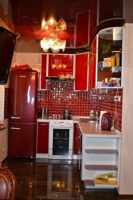 geladeira colorida cozinha vermelha